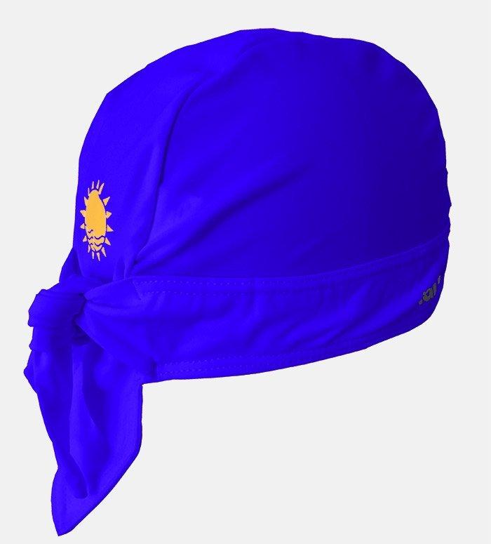 Nammu swim hat in dark blue printed pattern