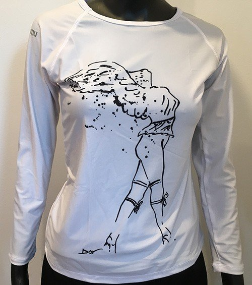 b6831437b4dc9 Home/Sun&water UV Shirts/Sun Protective Swim Shirt – Winged Nike. ; 